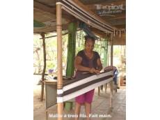 Hamac Nicaragua taille XL noir gris blanc