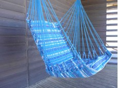 Fauteuil suspendu bleu