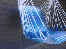 Fauteuil hamac bleu banquise