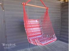 Fauteuil hamac suspendu rouge