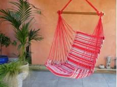 fauteuil hamac rouge gris