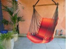 fauteuil hamac rouge orange