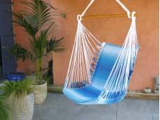 fauteuil hamac bleu blanc