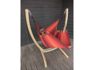Hamac chaise XXL avec support Paquito Barbacoa