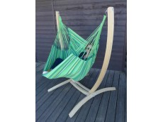 Chaise hamac vert avec support