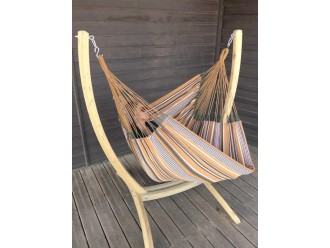 support hamac chaise bois