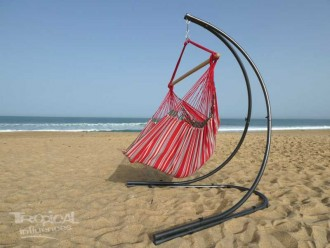 hamac chaise avec support rouge