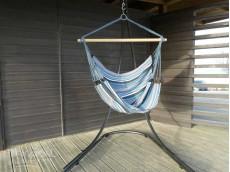 Support hamac chaise bleu