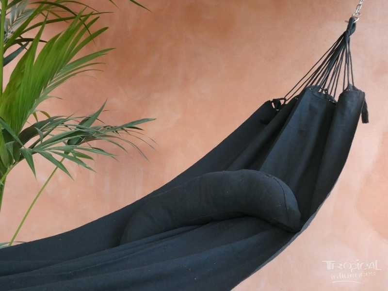 coussin hamac noir