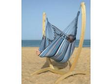 hamac chaise bleu noir