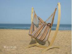 chaise hamac et support jaune noir