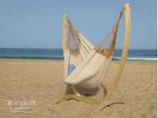 hamac chaise beige avec support