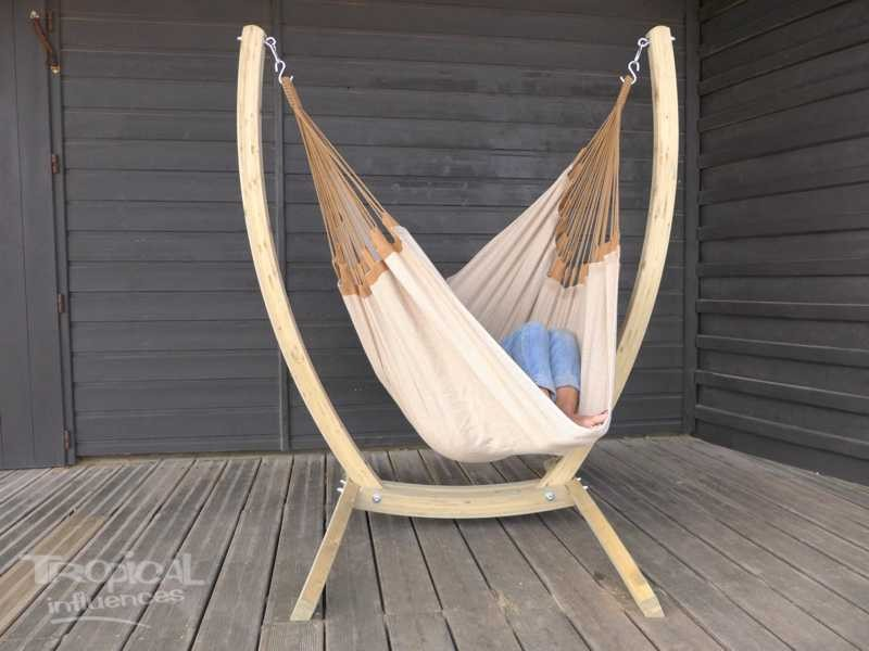 Support avac hamac chaise beige