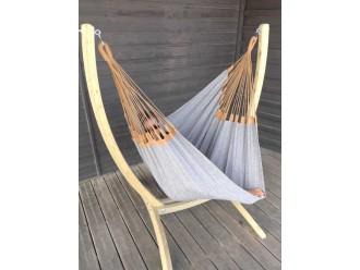 silla hamaca con soporte madera