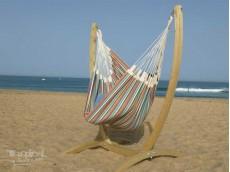 hamac chaise avec support bois