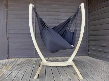 hamac chaise avec support noir