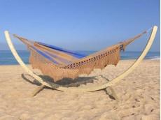 hamac bleu avec support