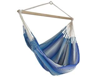 hamac chaise bleu blanc