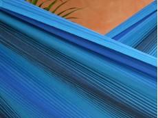 toile hamac bleu