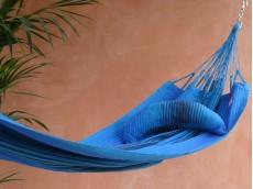 coussin hamac bleu