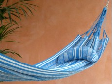 coussin hamac turquoise