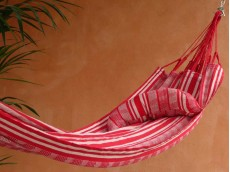 Coussin hamac rouge