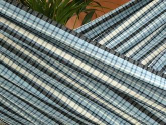hamac madras bleu noir