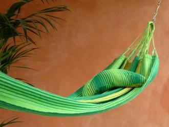 Coussin Hamac Soleil vert