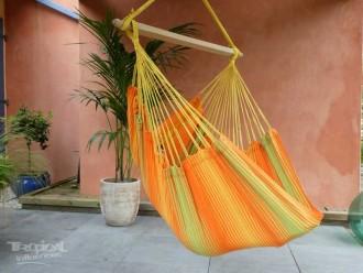 hamac chaise orange vert