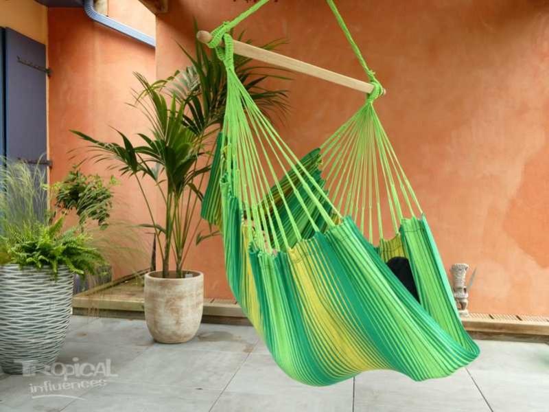 Hamac chaise vert jaune