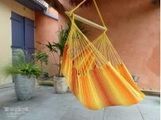 Hamac chaise jaune orange