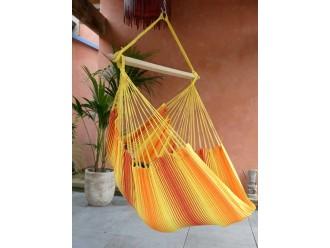 hamac chaise orange jaune