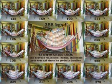 Support hamac Aztek Hamak Relax + hamac Cumbia XL écru