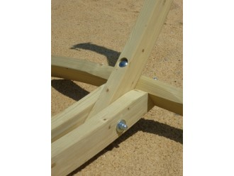 chaise hamac écru et support bois