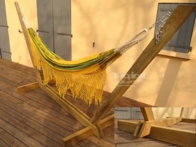 Support hamac azteca relax geant support de hamac - Support en bois pour hamac ...