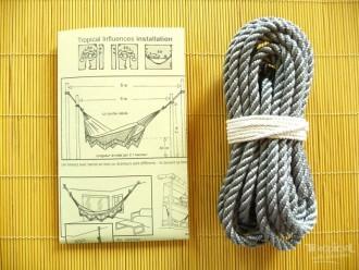 Corde pour hamac grise 8mm 3 torons