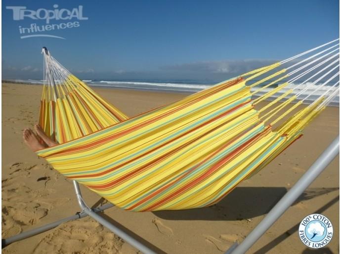 Hamac jaune solo cumbia plage
