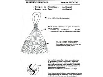 Hamac mexicain extérieur XL Écru