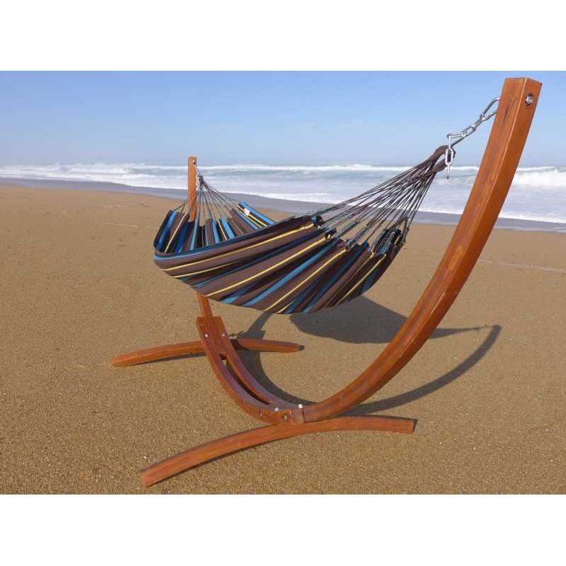 pied de hamac en bois avec v ritable hamac colombien un. Black Bedroom Furniture Sets. Home Design Ideas