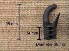 Embout support hamac métal