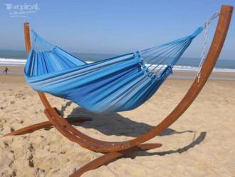 Hamac sur pied Latino Relax L 3 azules