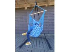 Fauteuil suspendu avec support bleu