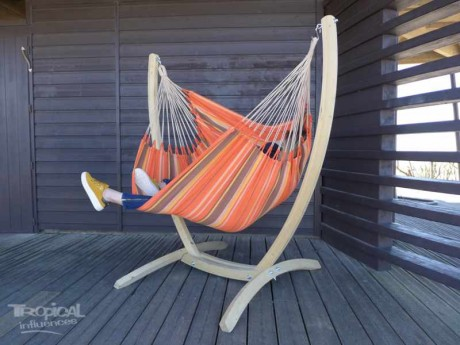 Chaise hamac avec support