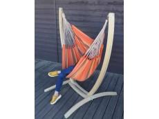 Chaise hamac avec support orange