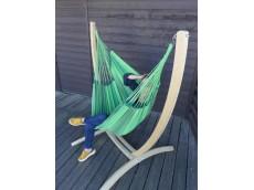 Chaise hamac avec support 3 Verts