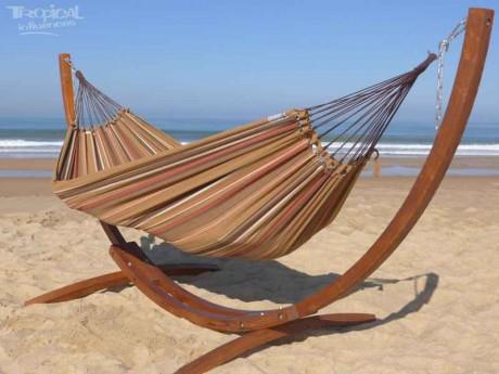hamac sur pied en bois latino relax avec hamac caribe xl. Black Bedroom Furniture Sets. Home Design Ideas