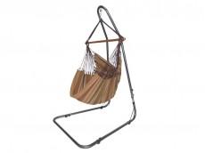 Chaise hamac avec support marron
