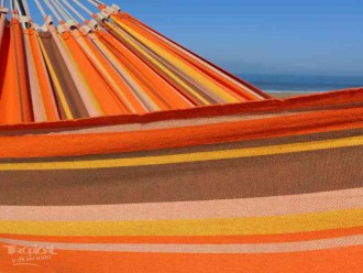 toile Chaise hamac orange