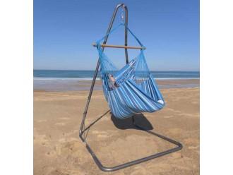 Chaise hamac avec support bleu