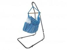 Chaise hamac bleue avec support